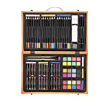Darice 80-Piece Deluxe Art Set – Art Supplies for Drawing, Painting and More in a Compact, Portable Case - Makes a Great  Beginner and Serious Artists