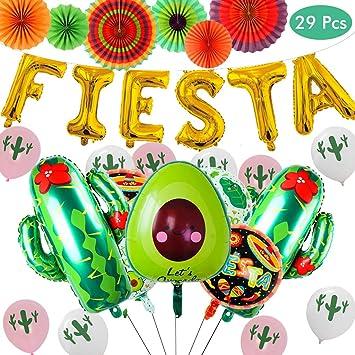 Amycute 29 Piezas Fiesta de Globo Decoración Taco Globo de ...