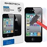1 x Set BaboTech® Premium Panzerfolie Display Schutzfolie für Apple iPhone 4 4s Klar Extrem Shock-Absorbierend