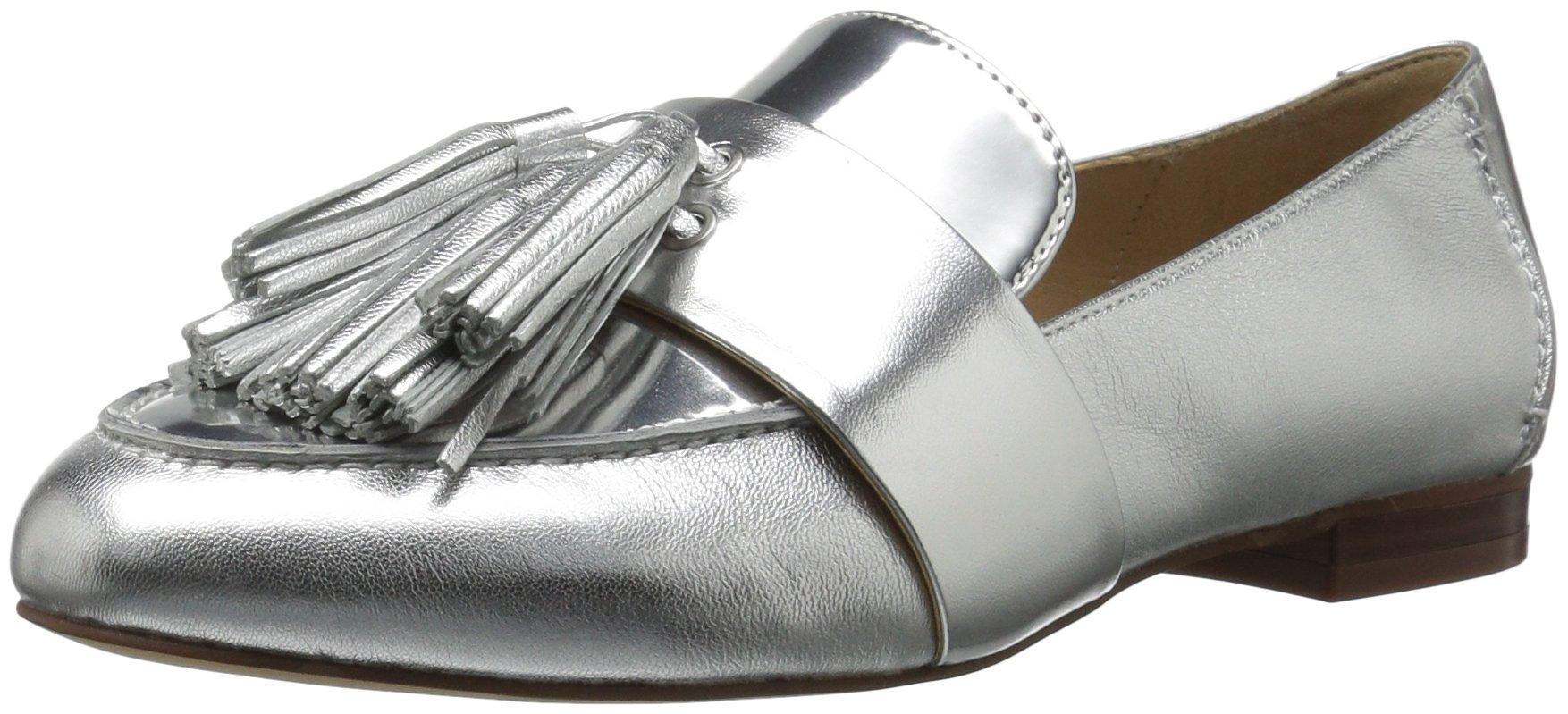 The Fix Women's Fabiana Tassel Penny Loafer, Silver/Metallic, 7 M US
