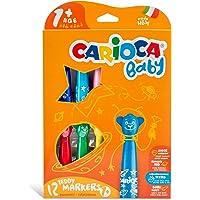 Carioca Teddy Jumbo Bebek Yıkanabilir Keçeli Boya Kalemi, 12'Li