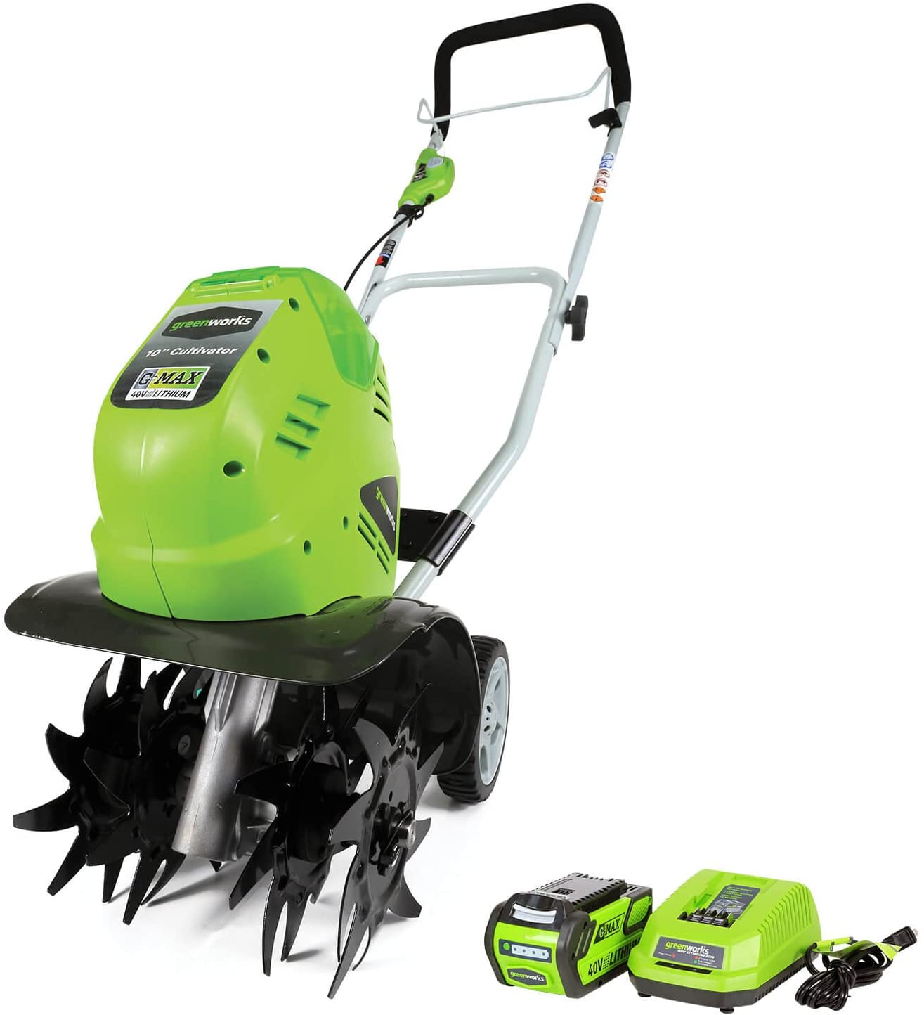 Greenworks 10-Inch 40V Cordless Cultivator, Battery Not Included 27062A : Garden & Outdoor