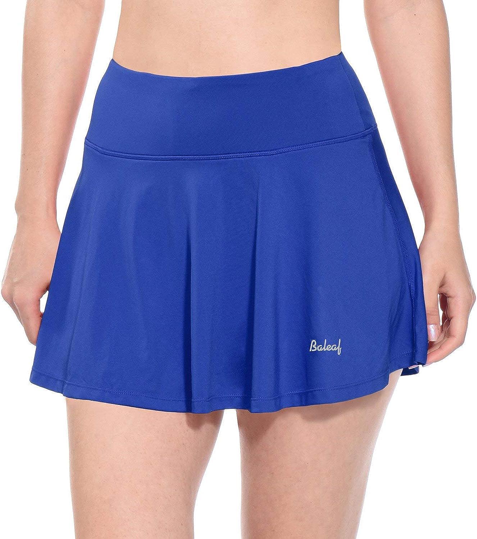 Amazon.com: BALEAF Women's Athletic Golf Skirt Tennis Skort Pleated with  Pockets: Clothing