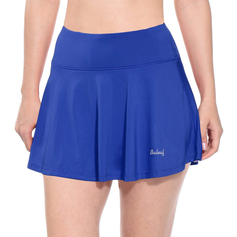Baleaf Women's Athletic Golf Skirt Tennis Skort Pleated with Pockets Blue Size M by Baleaf