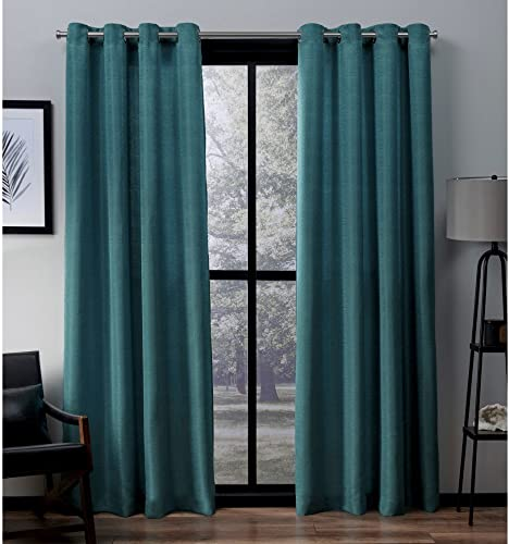 Exclusive Home Curtains Virenze Faux Silk Window Curtain Panel Pair