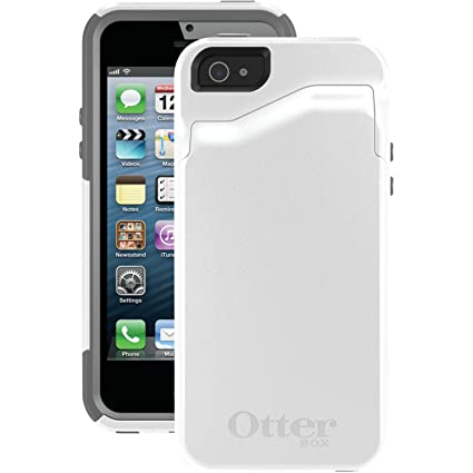 newest b4a97 6ad71 OtterBox COMMUTER WALLET SERIES Case for iPhone 5/5s/SE - Retail Packaging  - GLACIER (WHITE/GUNMETAL GREY)