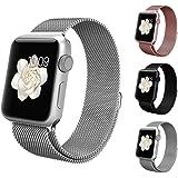 アップルウォッチ バンド Apple watchベルト マグネット 式 ミラネーゼループ BRG ステンレス 留め金製 メッシュ ベルト ( 42mm , シルバー )
