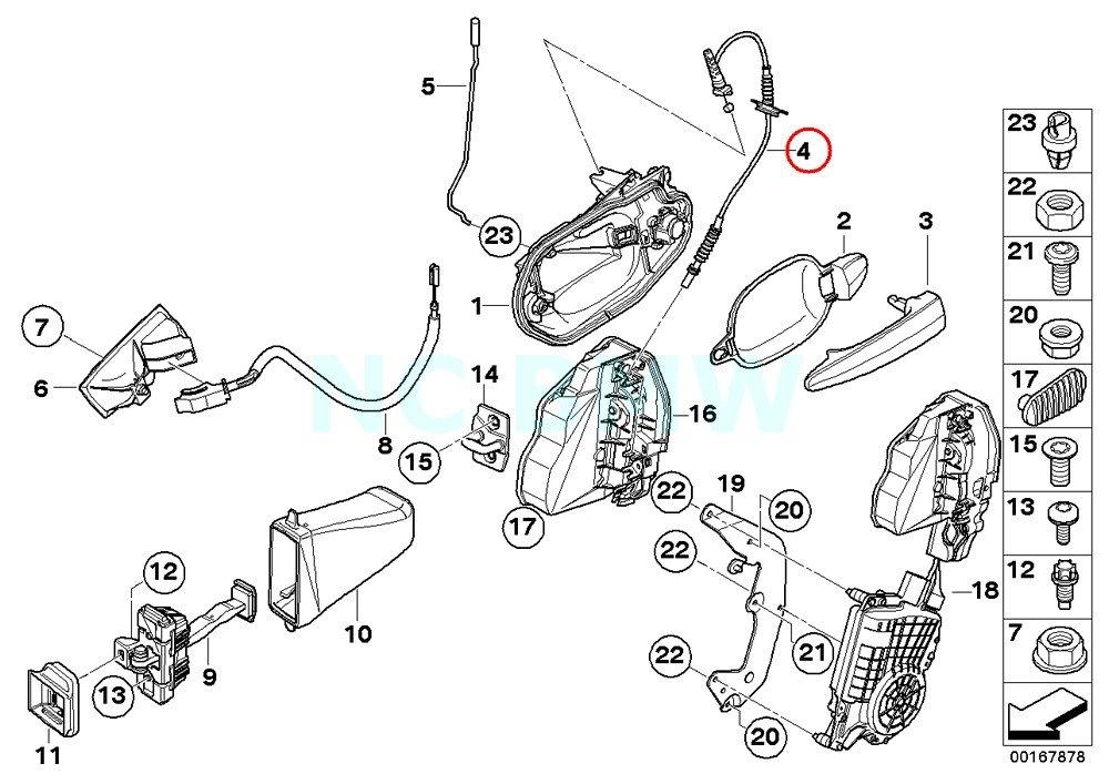 amazon bmw genuine outside door handle bowden cable automotive BMW E90 M3