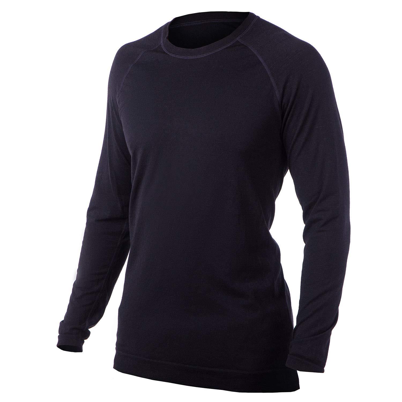 Pure² Herren Merinowolle, leichte Unterwäsche mit Rundhalsausschnitt, langärmelig, Ski, Winter, Wärme