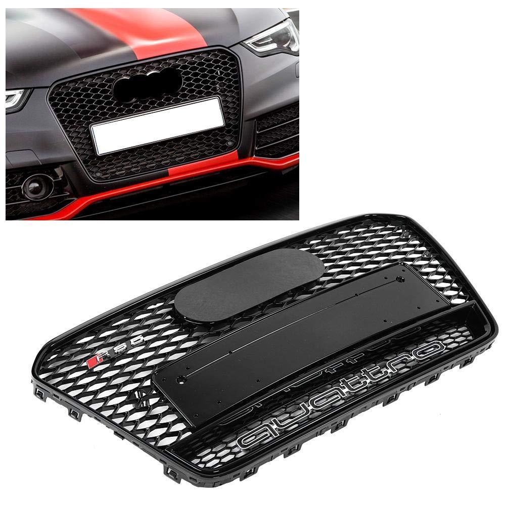 S5 B8.5 13-16 Akozon Grille Avant de Pare-chocs en Nid dabeille en Treillis Quattro Style pour A5