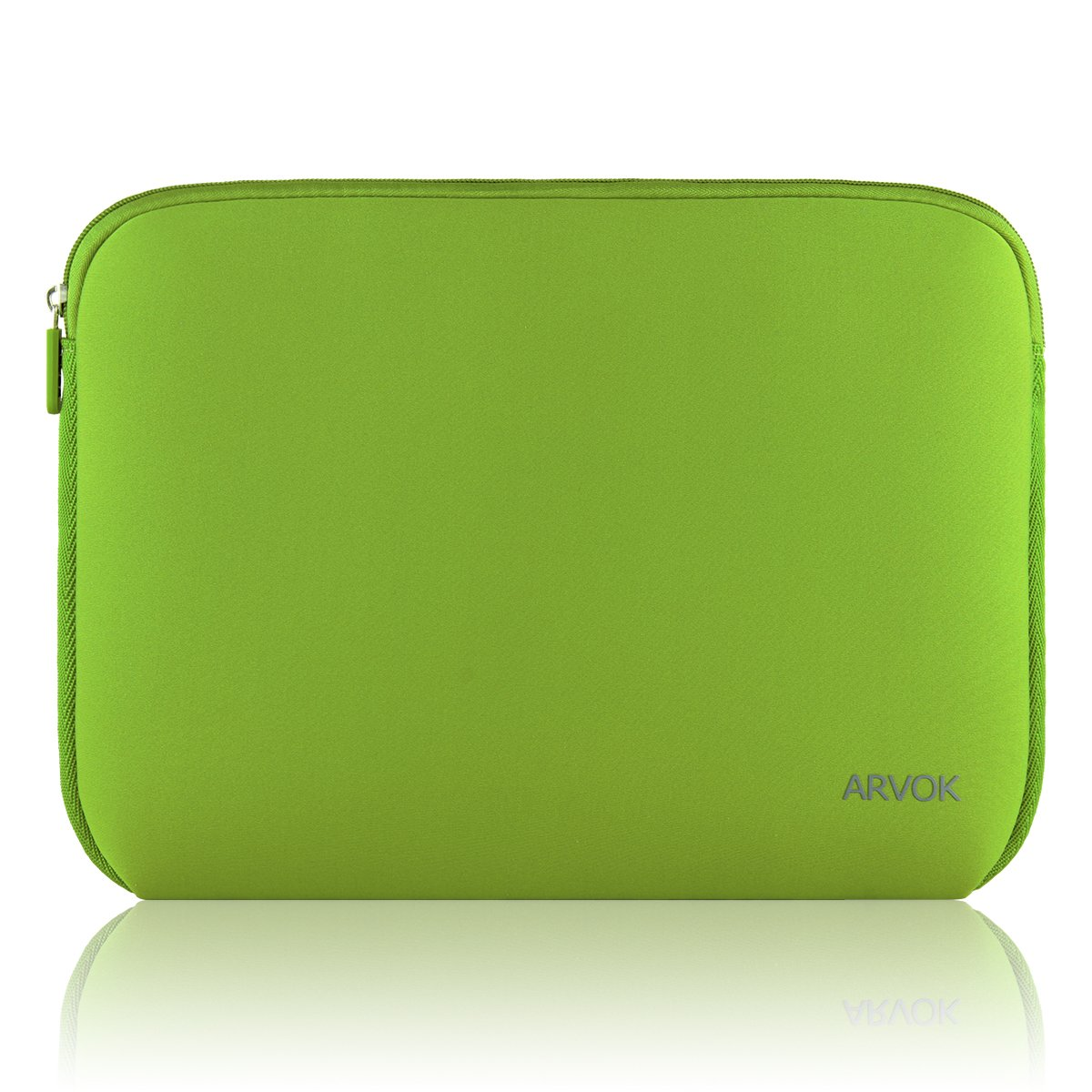 Arvok 15-15.6 Inch Laptop Sleeve Multi-Color & Size Choices Case/Water-Resistant Neoprene Notebook Computer Pocket Tablet Briefcase Carrying Bag/Pouch Skin Cover for Asus/Dell/Lenovo/HP, Bamboo Green