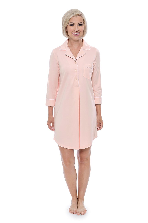 48c6311fdb Women s Nightshirt in Bamboo Viscose (Zenrest) Stylish Sleep Shirt by  Texere at Amazon Women s Clothing store