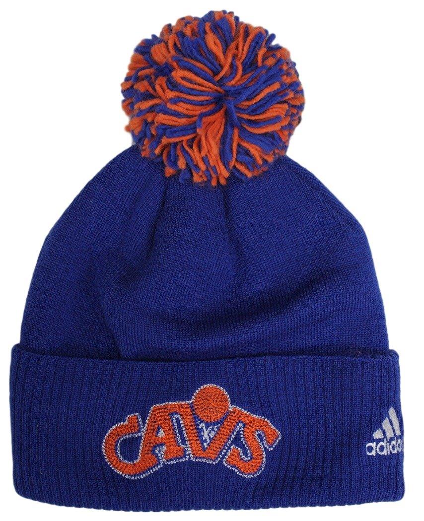 d7d85eb6f95 Amazon.com   adidas Cleveland Cavaliers NBA Hardwood Classics Cuffed Knit  Hat with Pom   Sports   Outdoors