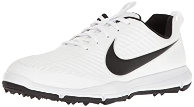 Nike Men s Explorer 2 Golf Shoe White Black 7 ... 0a6a5f57e93