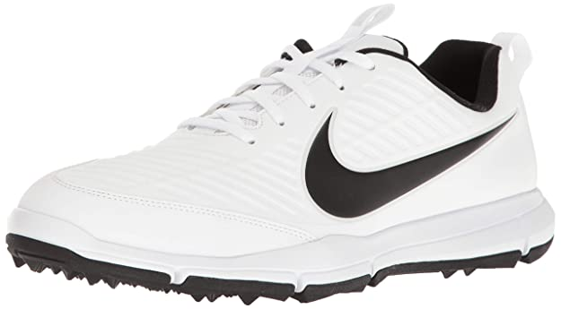 Nike Men's Explorer 2 Golf Shoe, White/Black, 7 M US