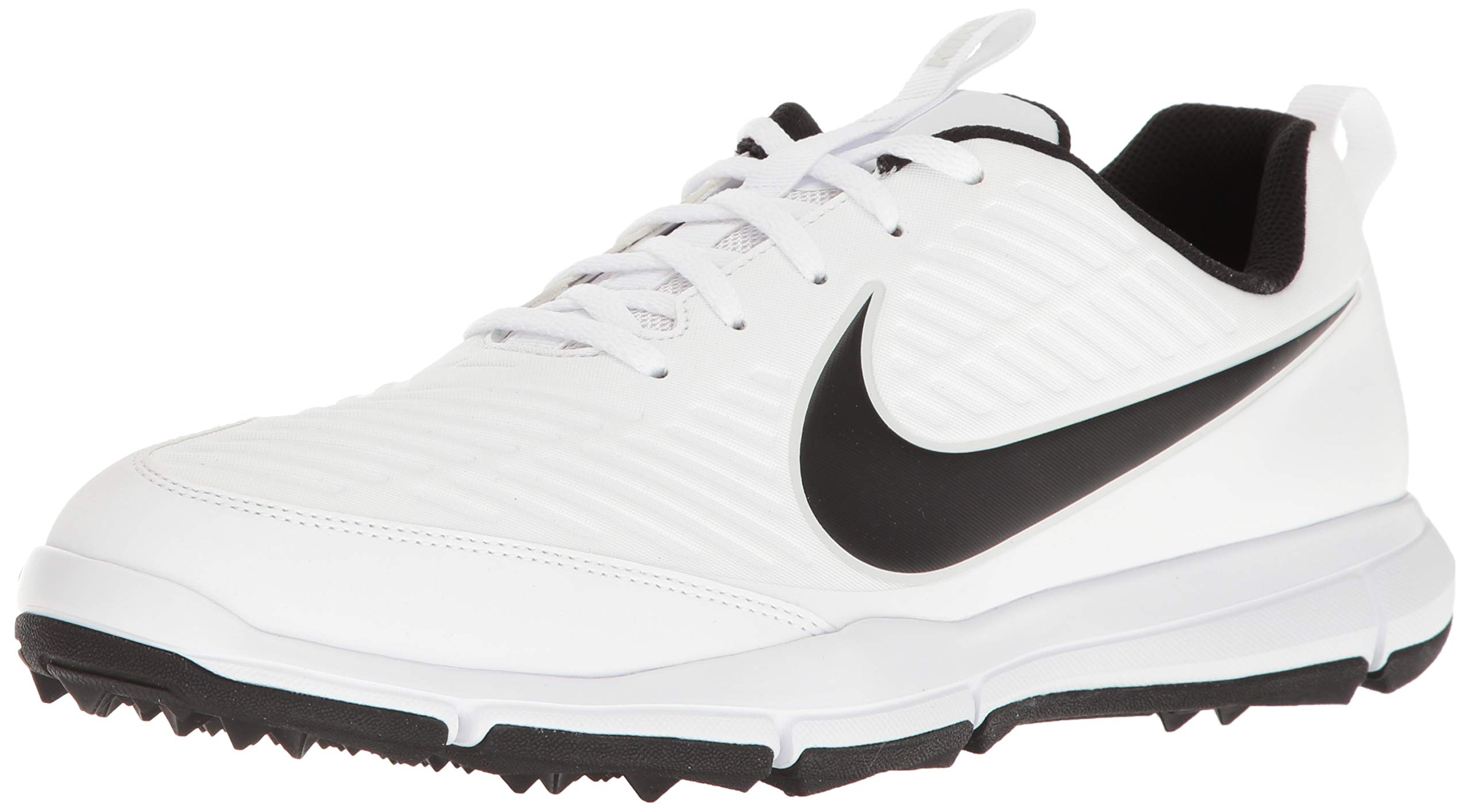 Nike Men's Explorer 2 Golf Shoe, White/Black 7.5 Wide US
