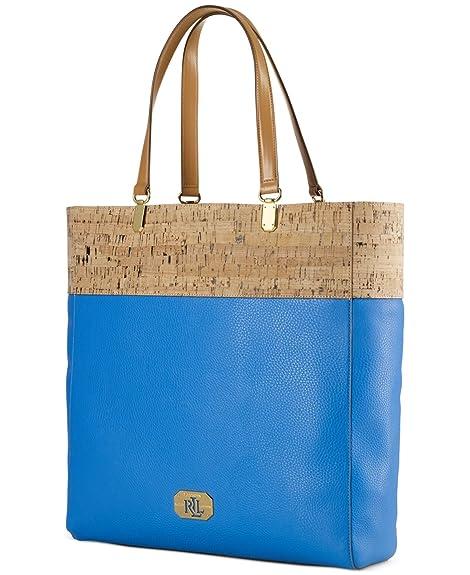 9ad4cd3bb6 LAUREN RALPH LAUREN Cork-Patterned Tote Bag Blue  Amazon.ca  Shoes    Handbags