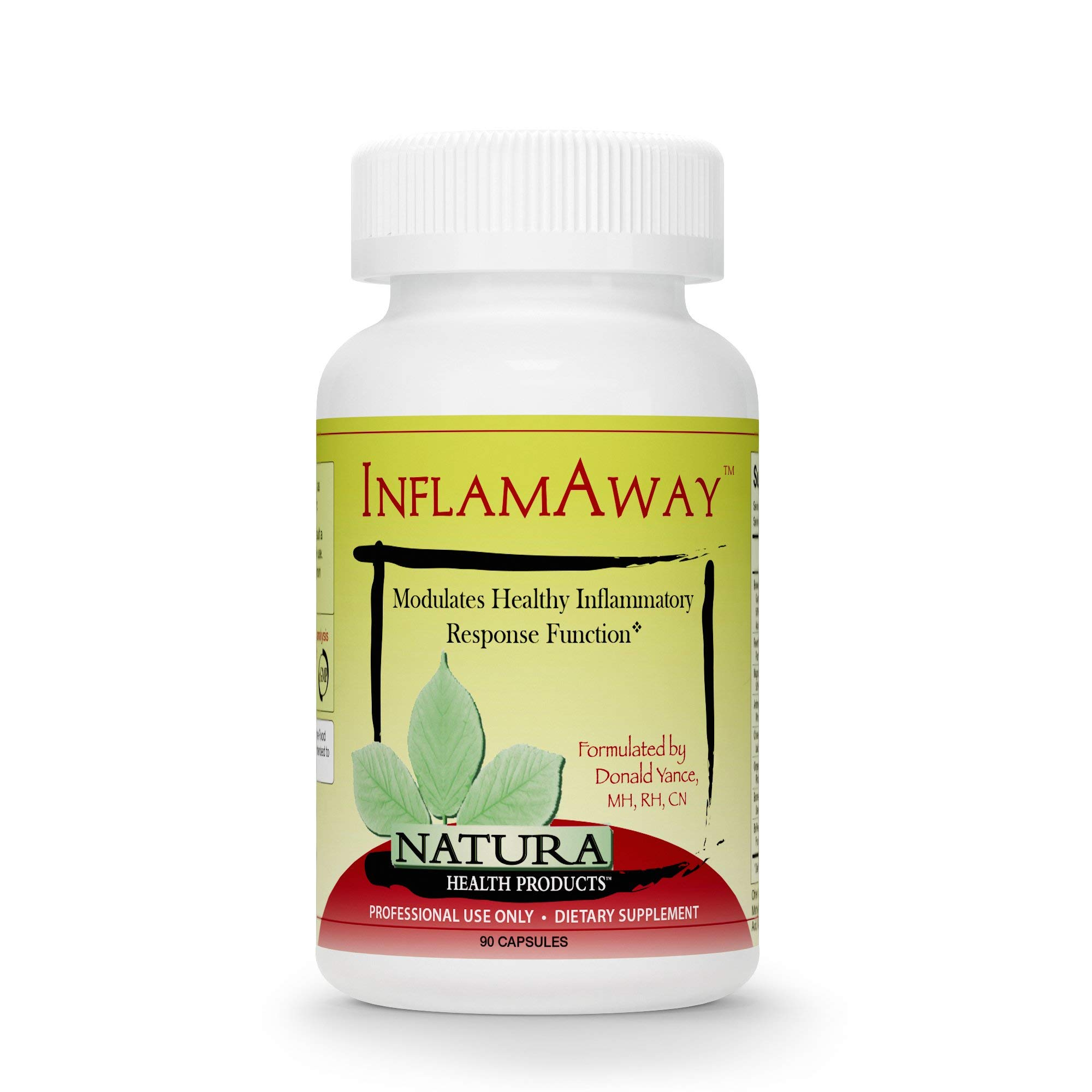Natura Health Products - InflamAway Healthy Inflammatory Response Support Supplement - Natural Potent Herbal Relief with 30% AKBA Boswellia Serrata and Bioperine Black Pepper - 90 Capsules by Natura Health Products