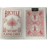 Bicycle Red Trace Deck Playing Cards