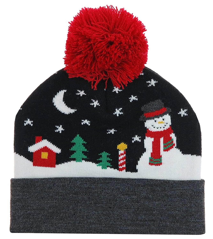 Capelli New York Cuff Hat with North Pole Snowman