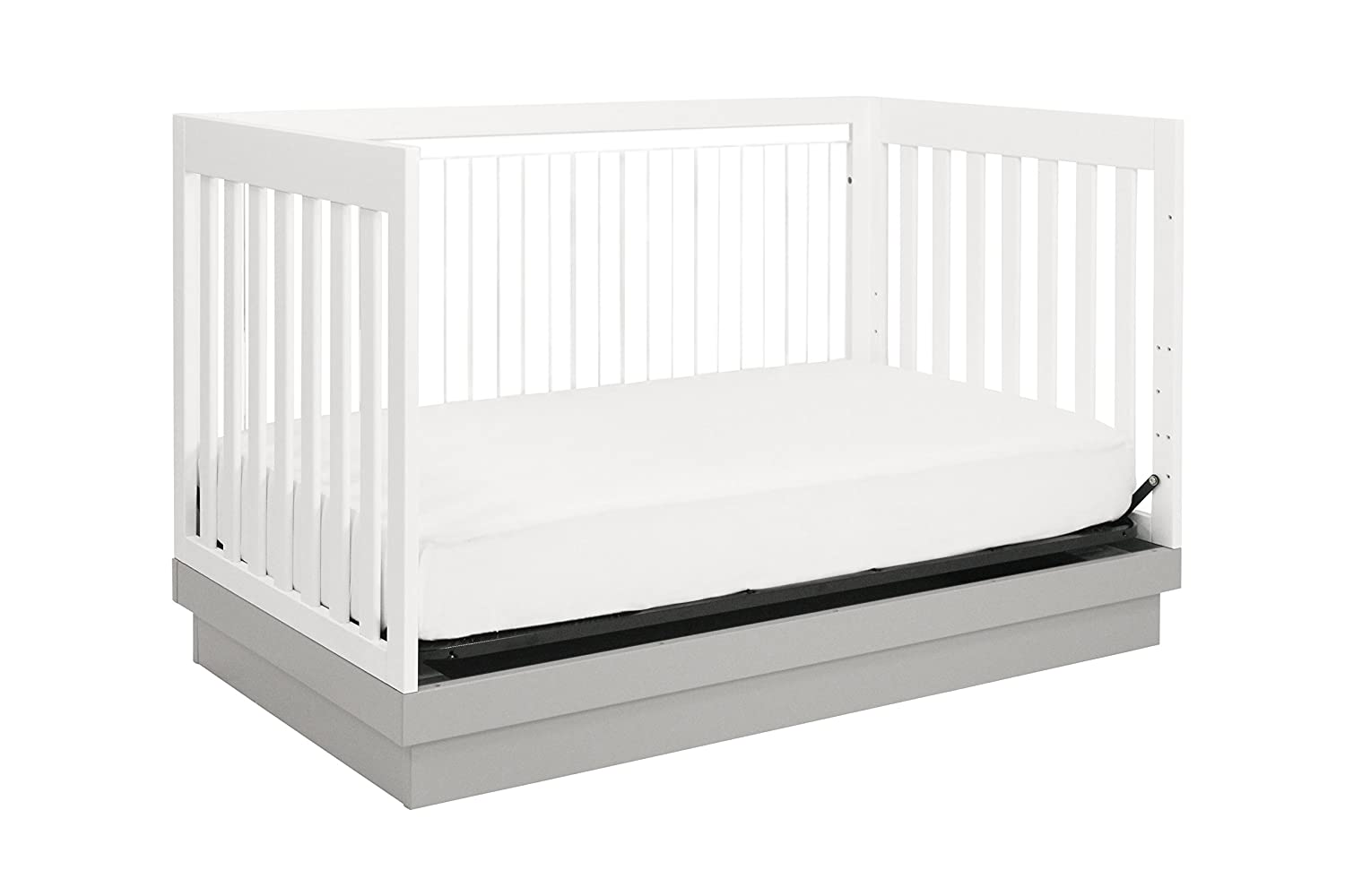 amazoncom  babyletto harlow in convertible crib white with greyacrylic  babyletto lucite  baby. amazoncom  babyletto harlow in convertible crib white with