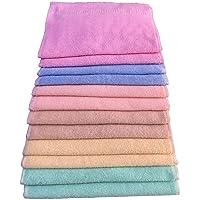 Blenzza Deco® Multicolour Cotton Hand Towel Set of 12 Pieces(2 Pieces of All six Colours)