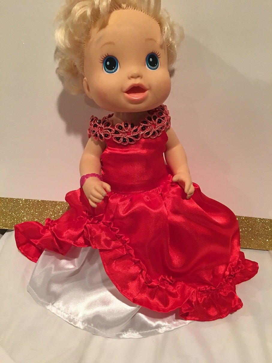 Fits 13 14 Baby Alive Doll Clothes Princess Elena of Avalor Inspired Dress Halloween Costume Handmade NO DOLL