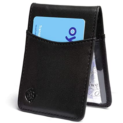 77facdbef2 Leather Oyster Card Holder - Slim Genuine Leather Travel Card/Pass Holder/ Wallet with