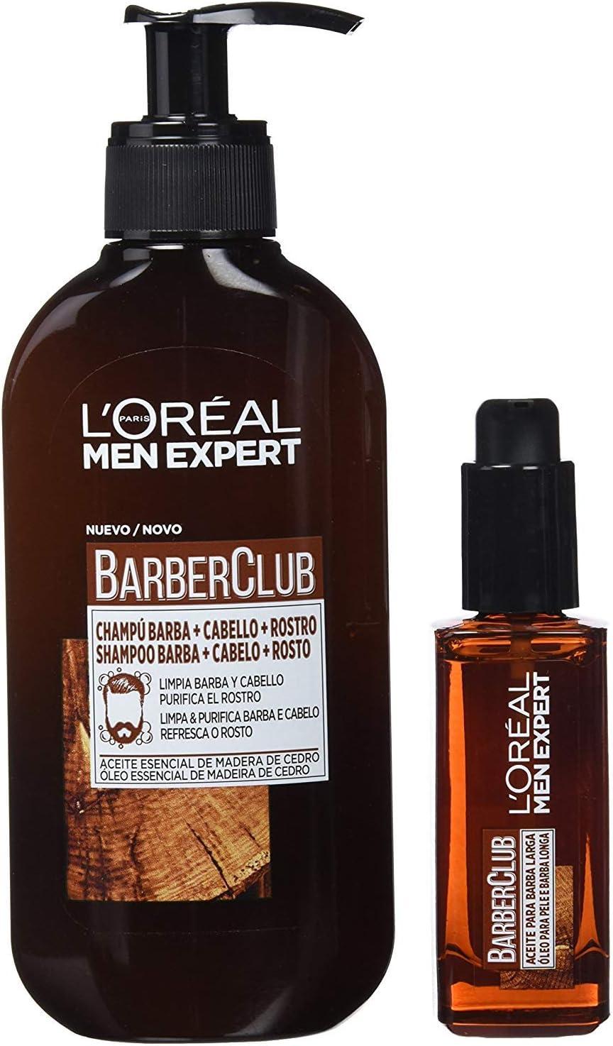 LOréal Paris Men Expert Kit Barber Club, Champú 3 en 1 y Aceite para barba: Amazon.es: Belleza