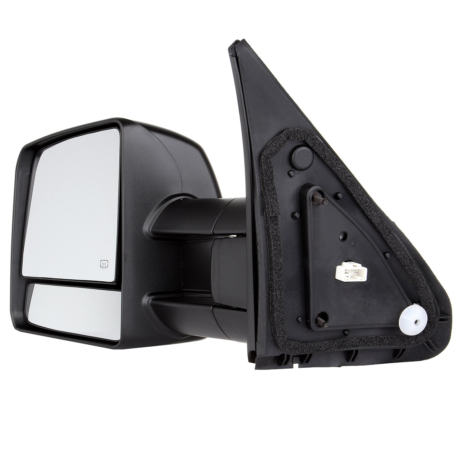 SCITOO fit Toyota Towing Mirrors Rear View Mirrors fit 2007-2016 Toyota Tundra Truck Larger Glass Power Control, Heated Turn Signal Manual Extending Folding (black) by SCITOO (Image #4)
