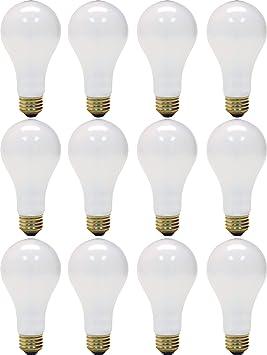 Lot de 2 150.0 Watts GE Lighting Blanc Doux 3/Voies 97494/50//100//150/Watts 2155-lumen A21/Ampoule avec Base de Medium