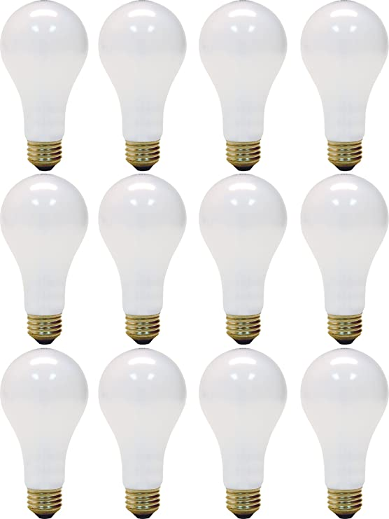 GE Lighting Soft White 3-way 97494 50//100//150-Watt 2155-Lumen A21 Light Bulb with Medium Base 12-Pack