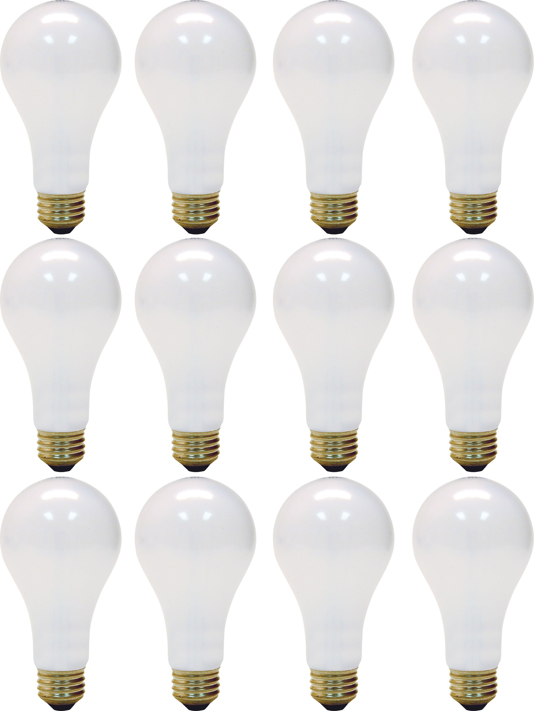 GE Lighting Soft White 3-way 97494 50/100/150-Watt, 2155-Lumen A21 Light Bulb with Medium Base, 12-Pack