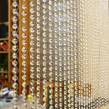 Clear Crystal Glass Bead Curtain Luxury Erfly Design Living Room Bedroom Window Door Wedding Home Decor 1m Audio Theater