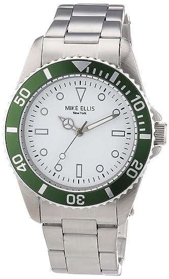 Mike Ellis New York M2969ASM/3 - Reloj de cuarzo para hombre, correa de acero inoxidable color plateado: Amazon.es: Relojes