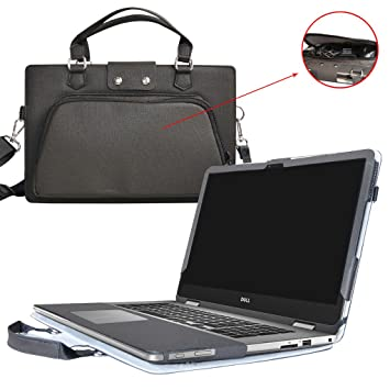Inspiron 17 2-in-1 i7773 i7779 i7778 Case,2 in 1 Accurately Designed Protective PU Leather Cover + Portable Carrying Bag for 17.3