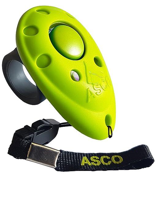ASCO Premium Clicker, Dedos Clicker para Clicker Training, Perros Gatos Caballos Profesional de Clicker