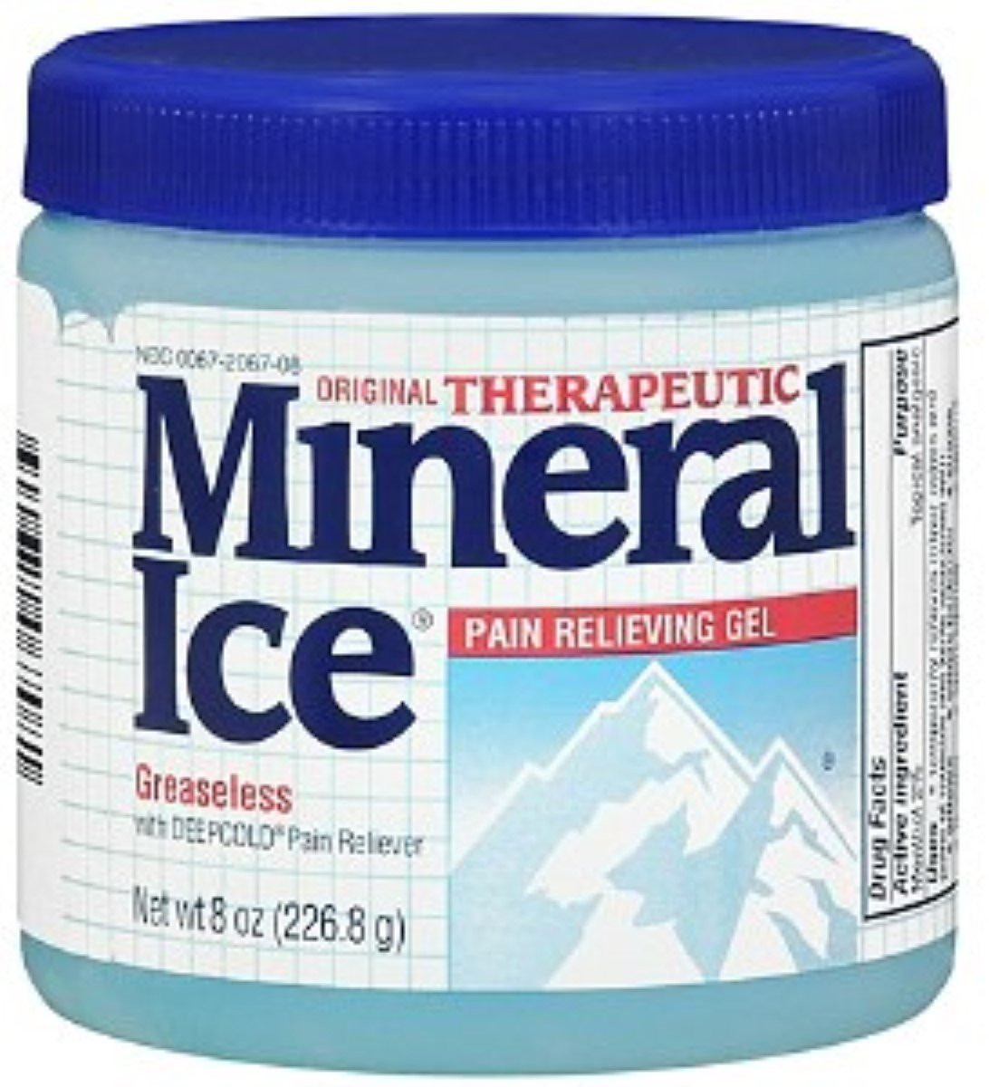 Mineral Ice Pain Relieving Gel 8 oz (Pack of 12)