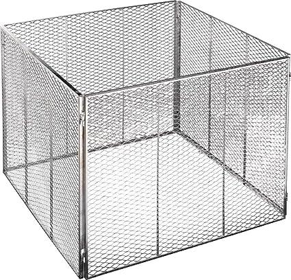 Brista - Recipiente de metal para compost (80 x 80 x 70 cm)