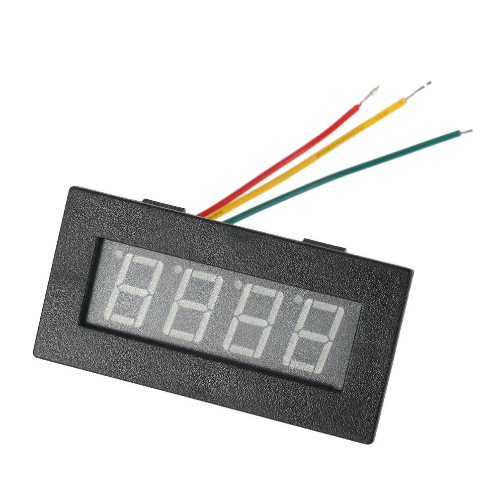 M DC 8-15V KKmoon Hohe Pr/äzision 0.56 4 LED Digital Frequenz Tachometer Auto Bewegungs Geschwindigkeits Messinstrument RPM Ma/ß Pr/üfvorrichtung 5-9999R Rot