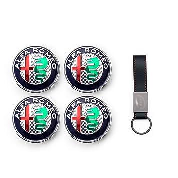 Set 4X Tapacubos 60mm para Alfa Romeo Giulietta Mito 159 147 Brera Logo Tapas para Llantas