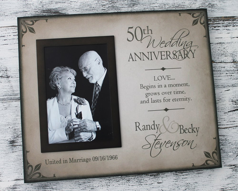 Amazoncom 50th Wedding Anniversary Picture Frame 25th Wedding