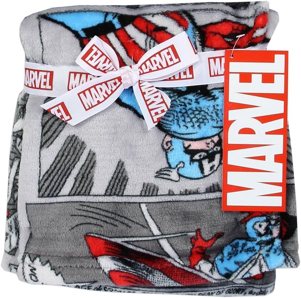 Avengers 30 inch x 30 inch Soft Flannel Fleece Baby Blanket, Marvel Avengers Blankets for Little Boys, Captain America Comics Designed Blanket