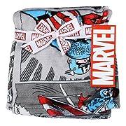 Avengers 30  x 30  Soft Flannel Fleece Baby Blanket, Marvel Avengers Blankets for Little Boys, Captain America Comics Designed Blanket