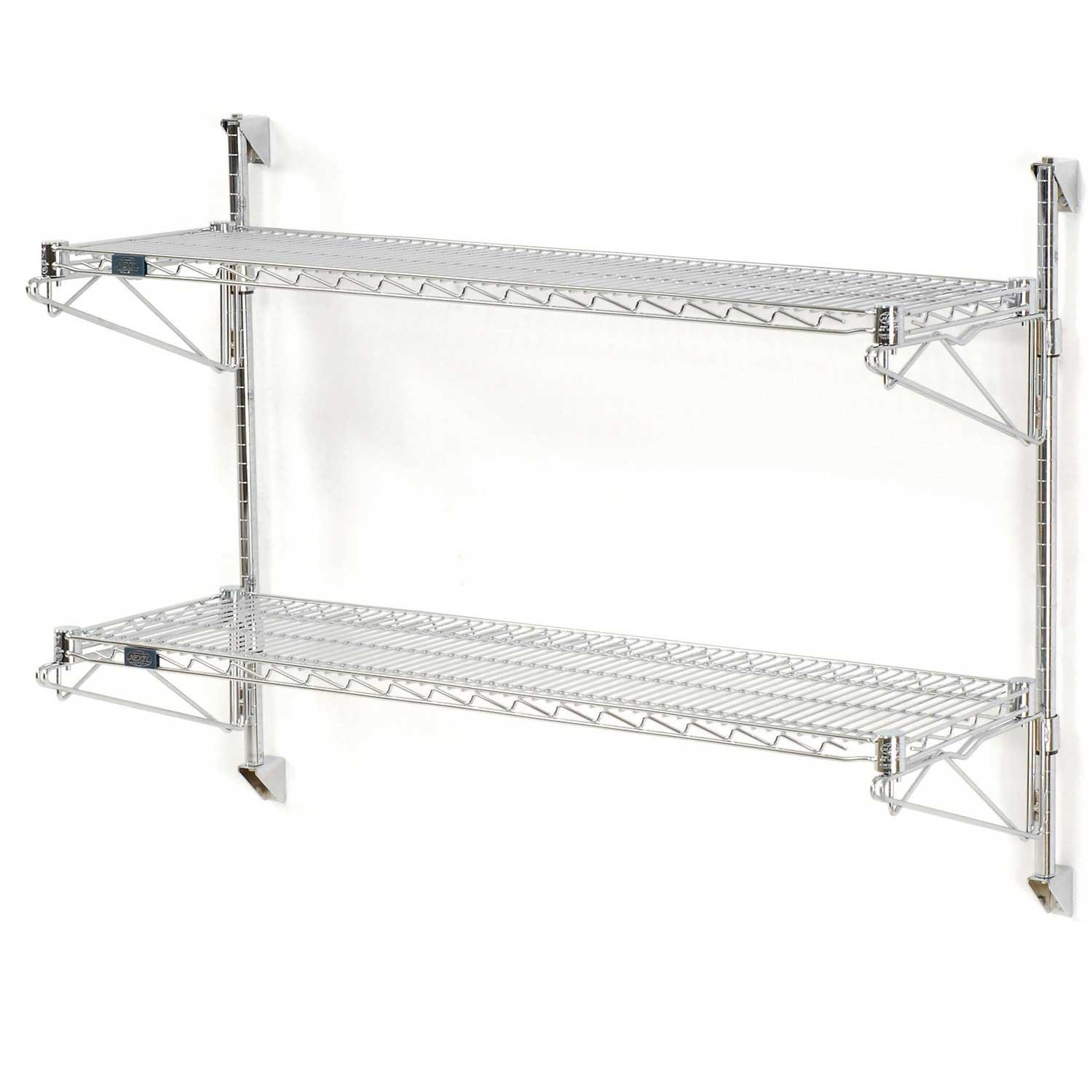 Nexel Wall Mount Wire 2-Shelf Starter Unit, 24''W x 24''D x 34''H by Nexel