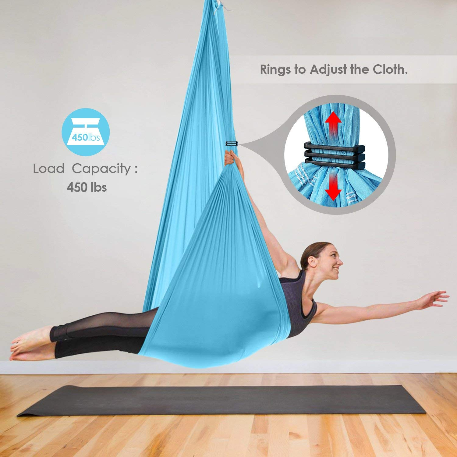Amazon.com: INTEY - Hamaca de yoga volando para yoga ...