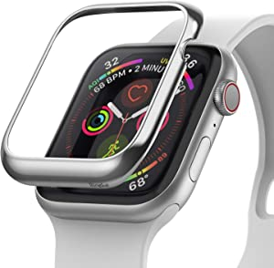 Ringke Bezel Styling Designed for Apple Watch Series 6 40mm Case (2020), Apple Watch SE 40mm Cover, Stainless Steel Frame Accessory for Apple Watch 40mm Series 6 / SE/Series 5 / Series 4 - AW4-01