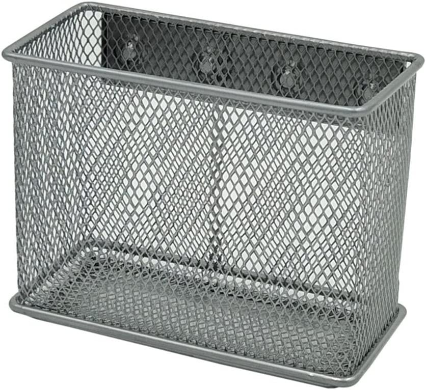 Exttlliy Sturdy Metal Mesh Magnetic Storage Basket Container for Whiteboard/Refrigerator/Magnetic Surface, Office Home Supply Organizer (M)