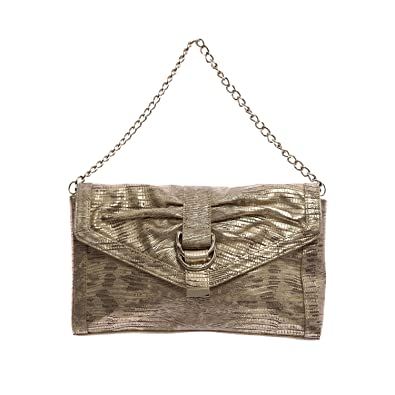 34478c37e0 Image Unavailable. Image not available for. Color: Elaine Turner Women's  Snake Embossed Leather Clutch Bag ...