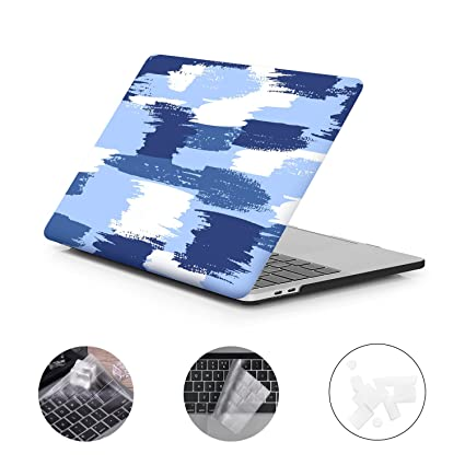 DWON MacBook Pro 13 Case 2017 and 2016 with Keyboard Cover and Dust Plug for Apple MacBook Pro 13 Inch Sleeve Model (A1706 / A1708 with/Without Touch ...